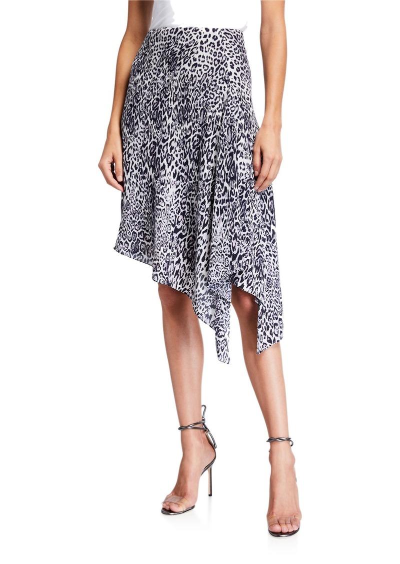 Elie Tahari Alexa Leopard-Print Asymmetrical Skirt