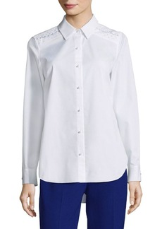 Elie Tahari Alina Point Collared Blouse