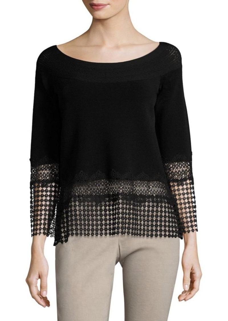 Elie Tahari Alisha Bell Sleeve Sweater