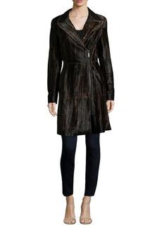 Aliza Leopard Printed Coat