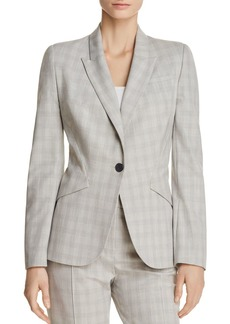 Elie Tahari Allegra Brushed Plaid Blazer