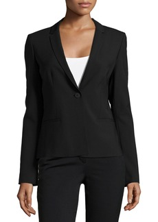 Elie Tahari Alma One-Button Jacket