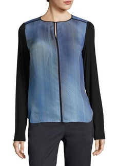 Elie Tahari Amenia Silk Blouse