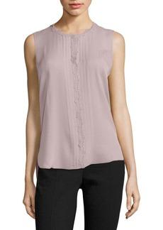 Elie Tahari Amerie Embellished Silk Top
