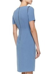 Tahari Woman Amymarie Short-Sleeve Dress W/ Side Pleat
