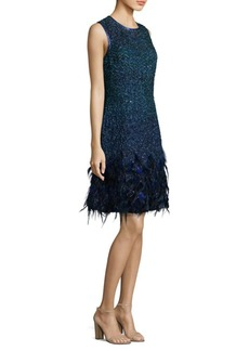 Anabelle Feathered Dress