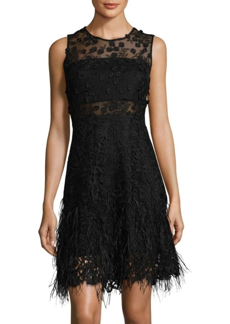 Anabelle Embroidered Lace Dress Elie Tahari