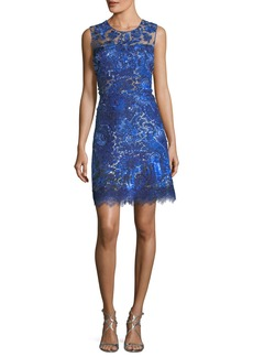 Elie Tahari Anabelle Shimmery Lace Dress
