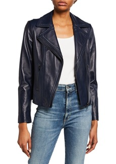 Elie Tahari Angalie Leather Jacket