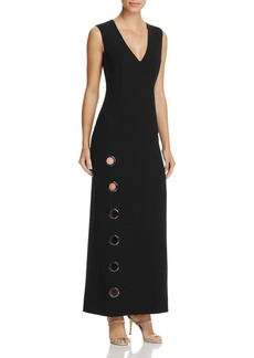 Elie Tahari Ann Ring Cutout Maxi Dress