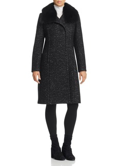 Elie Tahari Anna Fur Trim Coat