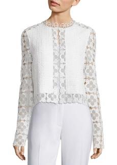 Elie Tahari Annabella Tweed & Lace Jacket