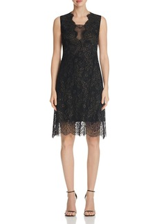 Elie Tahari Anne Metallic Lace Dress