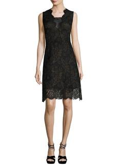 Elie Tahari Anne Sleeveless A-Line Lace Dress