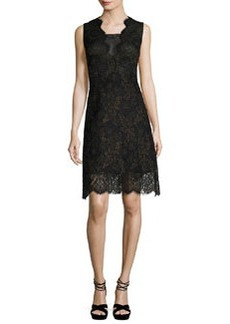 Elie Tahari Anne Sleeveless A-Line Lace Dress