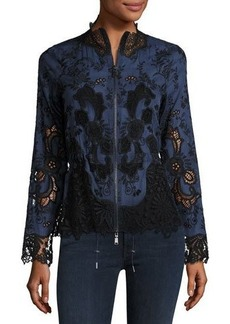 Elie Tahari Ansel Lace-Trimmed Jacket
