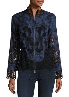 Elie Tahari Ansel Lace-Trimmed Jacket