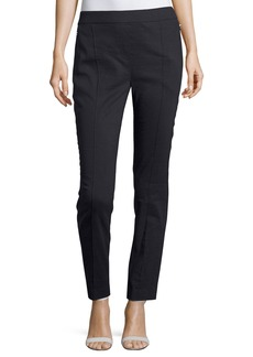 Elie Tahari Arabella Stretch-Linen Straight-Leg Pants