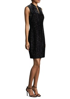 Elie Tahari Arabella Velvet Mini Dress