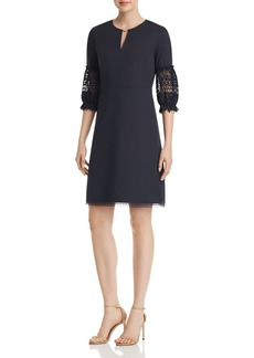 Elie Tahari Ari Lace-Sleeve Dress