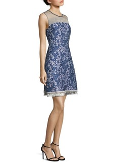 Elie Tahari Aria Floral-Print Cloque Dress