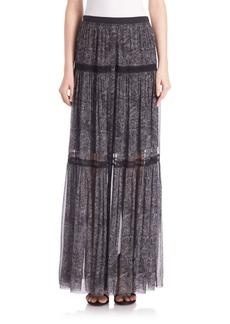 Elie Tahari Arlington Silk Maxi Skirt