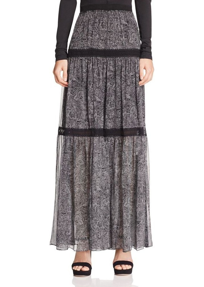 Elie Tahari Arlington Tiered Silk Maxi Skirt