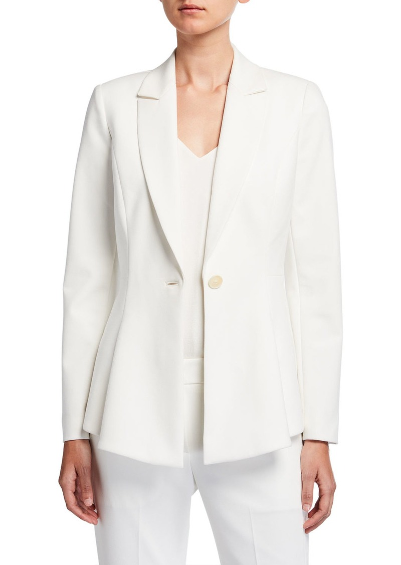 Elie Tahari Arya One-Button Crepe Jacket
