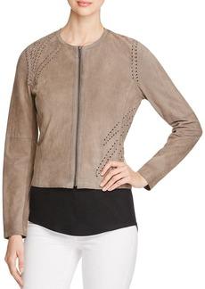 Elie Tahari Aspen Suede Lace-Up Jacket