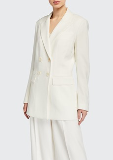 Elie Tahari Aster Double-Breasted Crepe Jacket