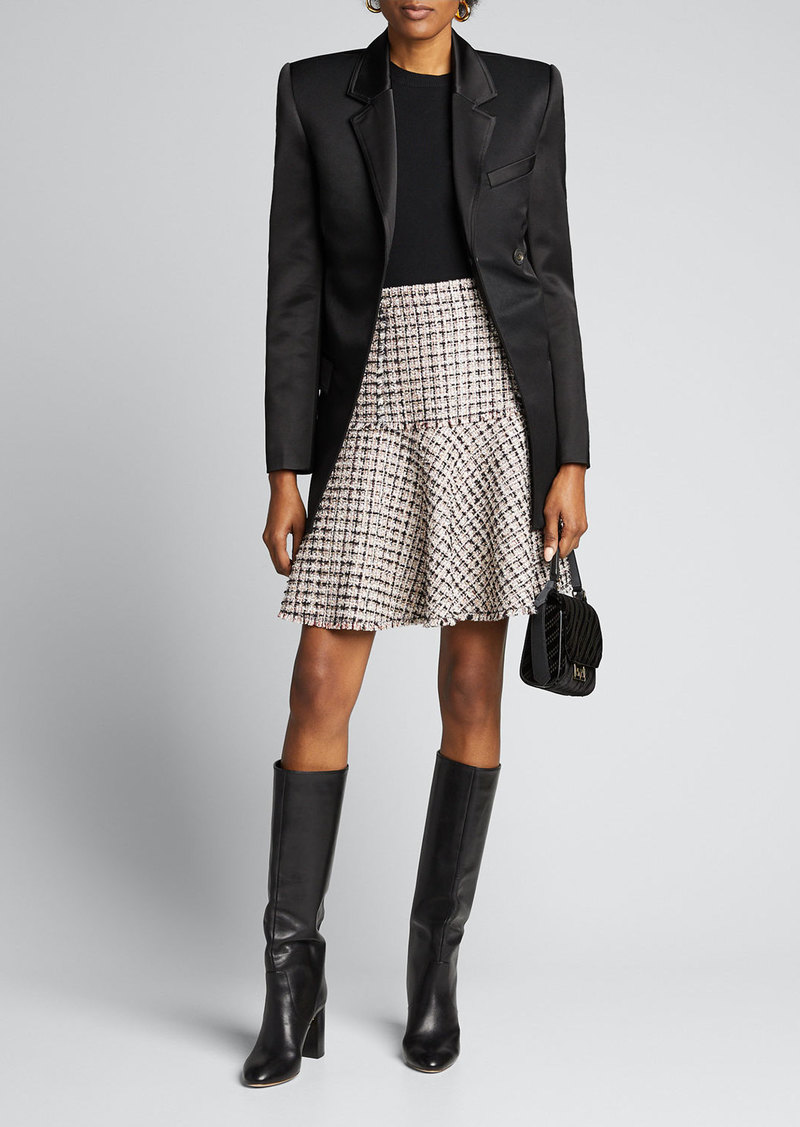 Elie Tahari Astrid Tweed A-Line Skirt