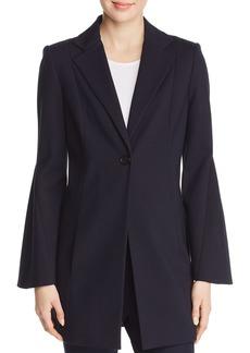 Elie Tahari Athea Flare Sleeve Long Blazer