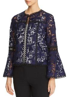 Elie Tahari Atiya Bell-Sleeve Lace Jacket