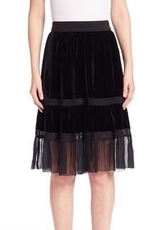 Elie Tahari Audra Velvet Skirt
