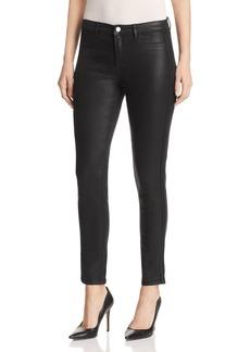 Elie Tahari Azella Braid Waxed Skinny Jeans in Black