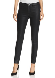 Elie Tahari Azella Coated Skinny Jeans in Black