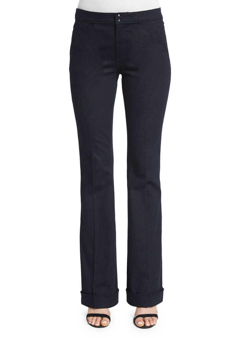 Elie Tahari Bailee Mid-Rise Flared Jeans