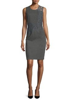 Elie Tahari Baldwin Sleeveless Lace-Trim Sheath Dress