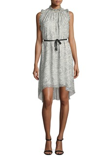 Elie Tahari Balere Ruffle-Trim Silk Dress