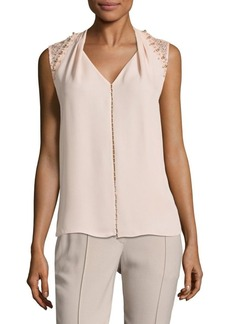 Elie Tahari Barbara Sleeveless Silk Blouse