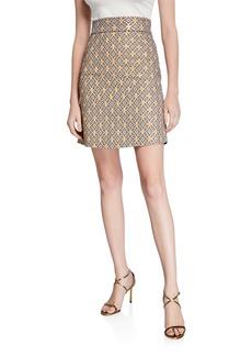 Elie Tahari Barbie Geometric High-Waist Mini Skirt