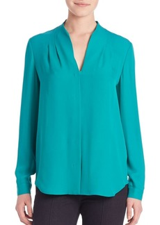 Elie Tahari Bea Long Sleeve Silk Blouse