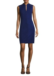Elie Tahari Bead-Detailed Sheath Dress