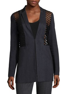 Becky Crochet & Faille Jacket