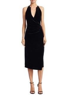 Belecia Velvet Halter Dress