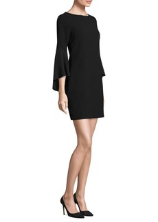 Bell Sleeves Sheath Dress