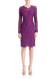 Elie Tahari Bellamy Lace Embroidered Dress