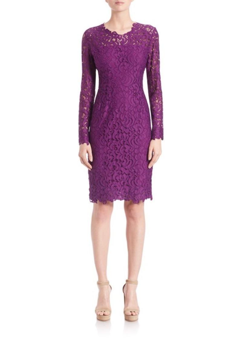 Elie Tahari Bellamy Lace Embroidered Dress