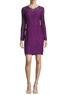 Elie Tahari Bellamy Lace Long-Sleeve Dress