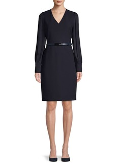 Elie Tahari Belted Mini Dress